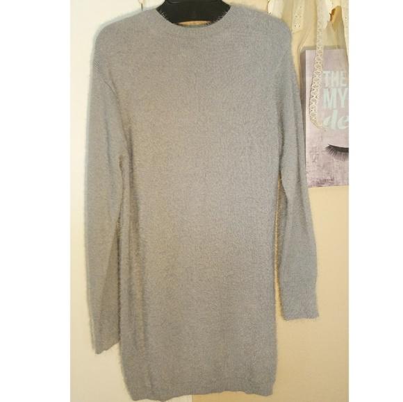 f44811a945 Gianni Bini Grey Sweater Dress Open Back